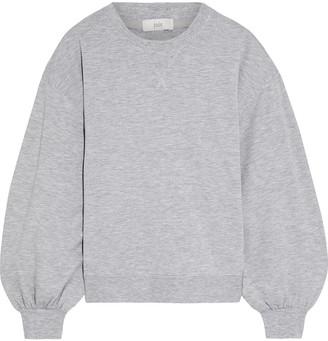 Joie Andela Metallic-trimmed Melange Fleece Sweatshirt