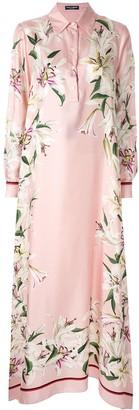 Dolce & Gabbana Lily print asymmetric dress