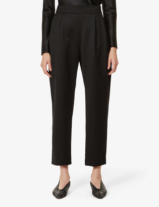 LA COLLECTION Luela relaxed high-rise wool trousers