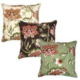 Jacobean Floral Needlepoint Pillow