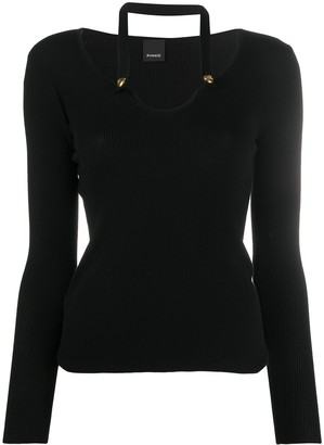 Pinko Halter Neck Wool Jumper