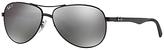 Ray-Ban RB8313 Polarised Pilot Sunglasses, Black