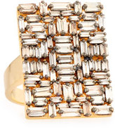 Suzanne Kalan Fireworks Diamond Baguette Cluster Ring in 18k Rose Gold, Size 6.5