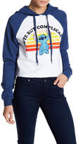 Freeze Stitch Raglan Cropped Hoodie