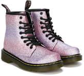 Dr. Martens Kids glitter combat boots