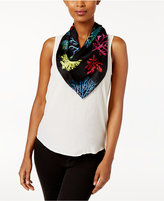 Echo Coral Me Crazy Silk Square Scarf