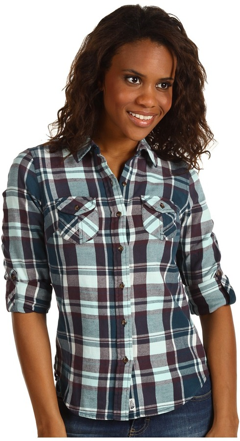The North Face Women's Suncrest Flannel (Kodiak Blue) - Apparel