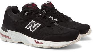 New Balance 991 Nubuck And Mesh Sneakers