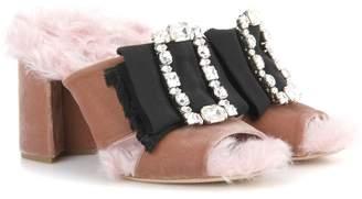 Miu Miu Exclusive to mytheresa.com embellished open-toe sandals