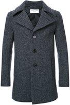 Saint Laurent notched collar short coat
