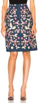 Needle & Thread Wild Flower Skirt in Blue,Floral.
