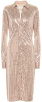 Bottega Veneta Embellished satin-jersey shirt dress