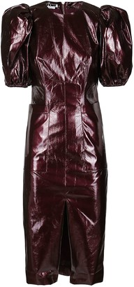 Rotate by Birger Christensen Bordeaux Faux Leather Irina Dress