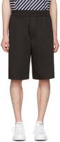 Neil Barrett Black Washed Slouch Shorts