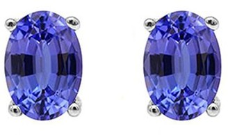 14K White Gold 1.25 cttw Tanzanite Earrings