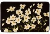Nourison 20-Inch x 30-Inch Floral Kitchen Rug in Black