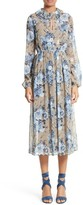 Robert Rodriguez Women's Bouquet Print Silk Dress