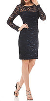 JS Collections Sequined Lace Dress