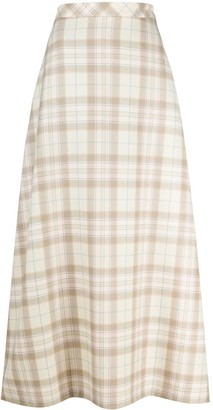 COOL T.M Check Wool Maxi Skirt