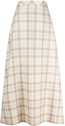 Cool T.M Check Wool Maxi Skirt