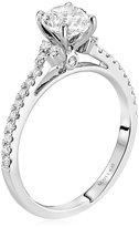 "Scott Kay Radiance"" Semi Mount Diamond Engagement Ring in 14K White Gold (1/4 cttw)"