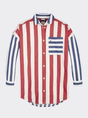 Tommy Hilfiger Multicolour Stripe Oversized Shirt