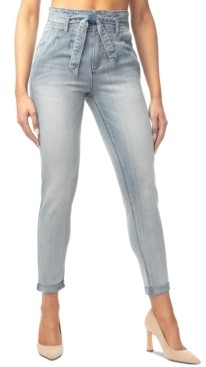 Almost Famous Juniors' Double-Rolled Super High-Rise Skinny Jeans