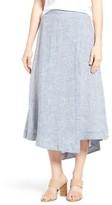 Nic+Zoe Women's Drifty Linen Midi Skirt