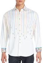 Robert Graham Tread Style Striped Sportshirt