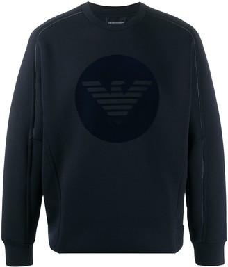 Emporio Armani Round-Logo Print Sweatshirt