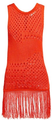 Altuzarra Carmela Crochet Cotton-blend Top - Womens - Orange