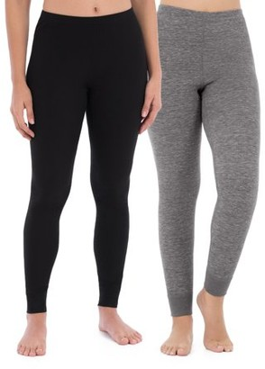 Fruit of the Loom Women's and Women's Plus Thermal Waffle Lounge Bottom - 2 Pack
