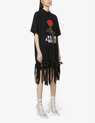 Palm Angels Rose cotton-jersey midi dress