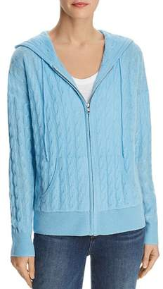 Bloomingdale's C by Cable-Knit Cashmere Hoodie - 100% Exclusive