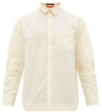 Eckhaus Latta Elbow-cutout Shirt - Mens - Cream