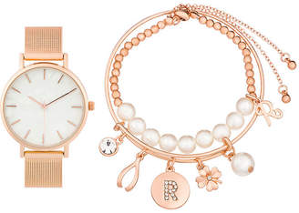 Alexis Bendel R Initial Womens Rose Goldtone 3-pc. Watch Boxed Set-7189r-42-E29