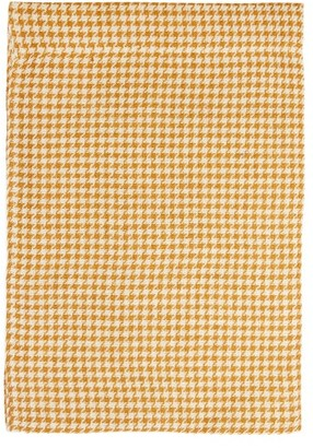 Once Milano - Houndstooth Linen Table Runner - Yellow Multi