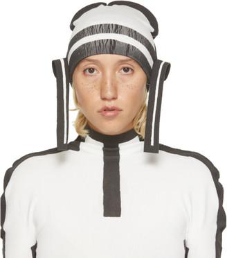 Issey Miyake White and Black Frame AP Hat