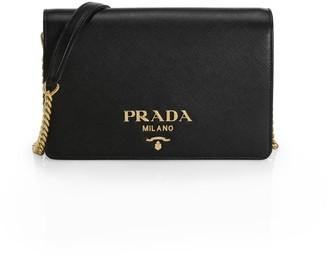 Prada Small Monochrome Leather Crossbody Bag