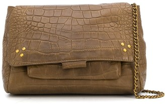 Jerome Dreyfuss Lulu crocodile-effect shoulder bag