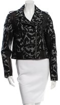 Diane von Furstenberg Leather-Trimmed Theodora Jacket