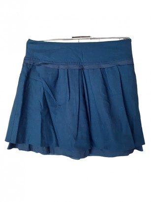 BOSS ORANGE Blue Wool Skirt for Women