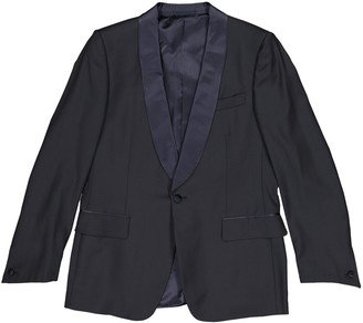 Saint Laurent Navy Wool Jackets