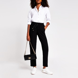 River Island Womens Black crepe jogger trouser