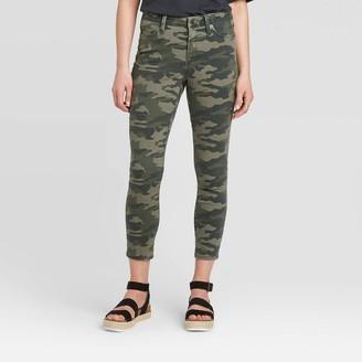 Universal Thread Women's High-Rise Cropped Skinny Jeans - Universal ThreadTM Print