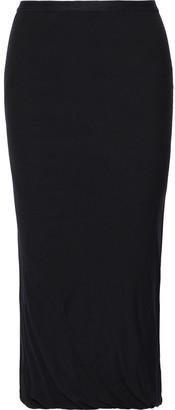 Rick Owens Lilies Gathered Jersey Midi Skirt