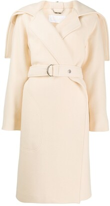 Chloé Cape-Style Belted Coat