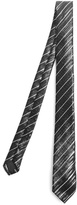 Saint Laurent Striped-jacquard silk tie