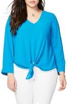 Rachel Roy Plus Size Women's Tie Front Blouse