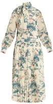 Stella Jean Ottusa waterlily-print silk maxi dress